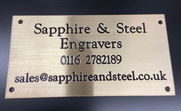 Engraved and Infilled Brass